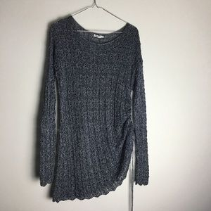 Cato Women's Knit Sweater Black/Silver, Size XL